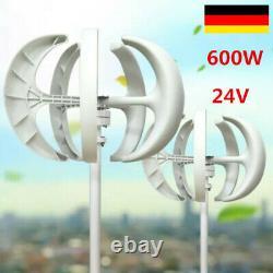 600W 24V Wind Generator Wind Turbine Lantern Vertical Axis with controller Garde