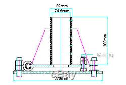74.5mm 2 1/2 Pole Tower Mount Base Foundation for Wind Turbine Generator