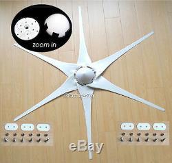800 W WATT 12 V DC 3-6 Blade Wind Turbine Generator + Charge Controller