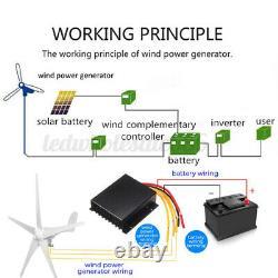 8000W 12/24V Windgenerator Windkraftanlage Windrad Wind Turbine Mit Controller