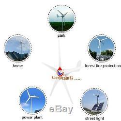 8000W 12V/ Windkraftanlage Windgenerator Turbine Windrad 5 Klinge