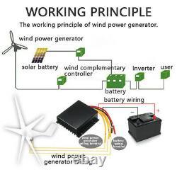 8000W Max Power 5 Blades DC 12V Wind Turbine Generator Kit W Charge Controller