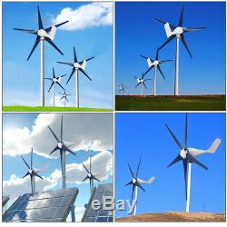 8000W Max Power 5 Blades DC 24V Wind Turbine Generator Kit W Charge Controller