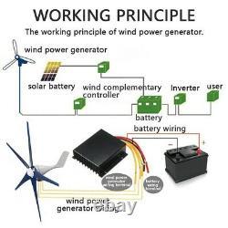 8000W Wind Turbine Generator 12V 5 Blade Wind Turbine Horizontal With Controller