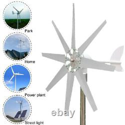 8000W Wind Turbine Genertor Kit 12/24V Aerogenerator 3/5/8 Blades with