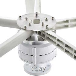 800W 24V 5 Blade Wind Turbine Generator Vertical Axis Kits Clean Energy Home