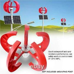800W DC 12V 5 Blades Wind Turbine Generator Vertical Axis Clean Energy Power Red