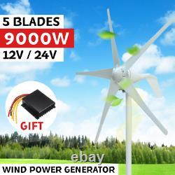 9000W 12V/24V 5 Blades Horizontal Wind Generator Wind Turbine Generator Kit
