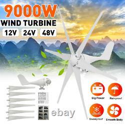 9000W 6 Blades Wind Turbine Generator Nylon Fiber Windmill Energy Turbine charge