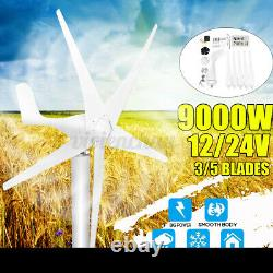 9000W Max Power 5 Blades 12/24V Wind Turbine Generator Kit with Charge Controller