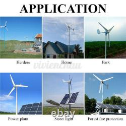 9000W Max Power 5 Blades DC 12/24V Wind Turbine Generator with Charge Controller