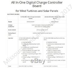 ALL IN ONE DIGITAL charge controller board 12 volt wind turbine generator solar