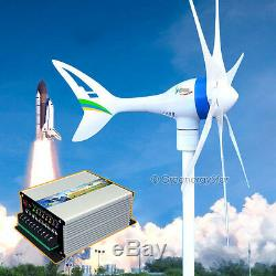 Apollo 650 W 12 V AC Magnet Wind Turbine Generator 6 Blade +Hybrid Controller