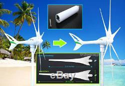Apollo1000 W 24 V AC Magnet Wind Turbine Generator 6 Blade + Hybrid Controller