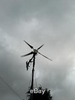 Avenger 4U wind turbine generator heavy duty using 4 KT 880mm 12or 24V UK supply