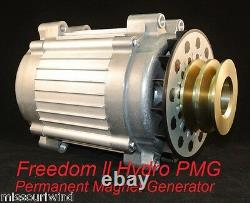 Freedom II PMG Hydro Permanent Magnet Generator with Fan & Pulley