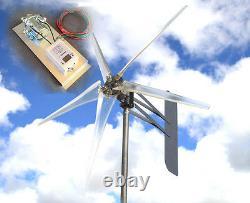 KT Ghost 12 VAC 3-PH Wind turbine 74 5 Blade 6.4kw 1695W FREE G4 Controller N
