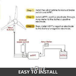 Max 400W 3 Blades Wind Turbine Generator Kit Max DC 12V Option Aerogenerator