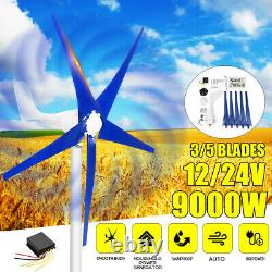 Max Power 9000W Wind Turbine Generator 12V / 24V 5 Blades With Charge