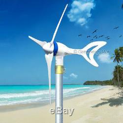 Megashark 12V AC Max 650 Watt 3 Blade Wind Turbine Generator System