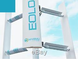 Mini small home vertical axis wind turbine generator 3KW EOLO 3000 windmill VAWT