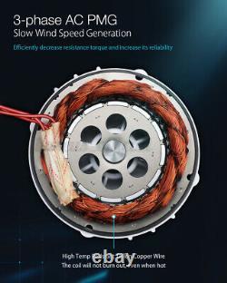Minleaf 1000W Wind Turbine Generator DC 12V/24V Charger Controller Power 5 Blade
