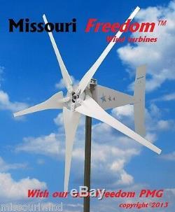Missouri Freedom 24 Volt 1600 Watt Max 5 Blade Wind Turbine Generator