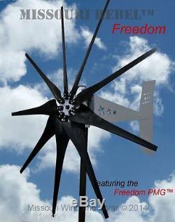 Missouri Freedom 24 Volt 1600 Watts Max 9 Blade Wind Turbine Generator
