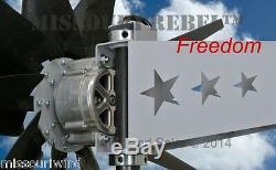 Missouri Freedom 48 Volt 1600 Watts Max 5 Blade Wind Turbine Generator