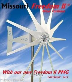 Missouri Freedom II 12 Volt 2000 Watt Max 11 Blade Wind Turbine Generator