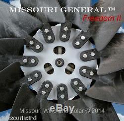 Missouri General Freedom II 12 Volt 2000 Watt 11 Blade Wind Turbine Generator