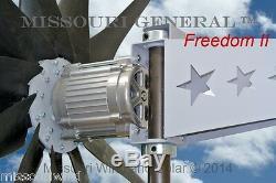 Missouri General Freedom II 48 Volt 2000 Watt 11 Blade Wind Turbine Generator