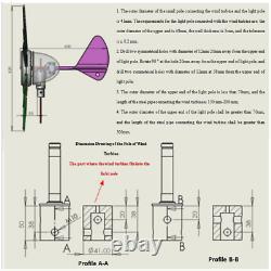 NEW 300W Silent 6 Blades 12V/24V Wind Turbine High Power Wind Generator Kit US
