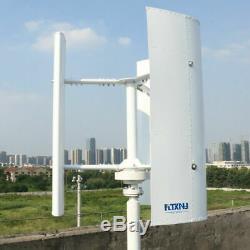 New Vertical Wind Turbine Generator 600w 12v 24v 48v 3 Phase With 3 Blades Desig