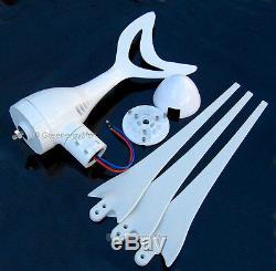 Phoenix 800 W Watt 12 V AC Wind Turbine Generator System 3 Blades New