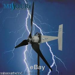 Raptor G5 3 blade 12 Volt 2000 Watt Max Wind Turbine Generator with 38 Blades