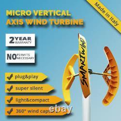 SMART WIND energy domestic Vertical Axis Turbine house garden roof terrace VAWT