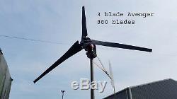 Special 3 Blade Hornet wind turbine generator 3x 880 mm blades, 48V 1500 watt