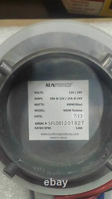 Sunforce Marine 600w 600 Watt 12V/24V 12 Volt Wind Generator Turbine Wind Power