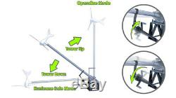 TowerUp Wind Turbine Generator Tower Base Stand Mount Foundation Easy Up & Down