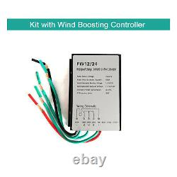 Tumo-Int 400W Vertical Wind Turbine Generator Kits with ChargeController(12/24V)