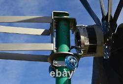 Turbine Generator withroller kit 1200 Watt 3 black propeller 12 VAC 3WIRE 4.32 kWh