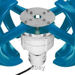 US 12/24V 4200W Vertical Axis Lantern Wind Turbine Generator 4 Blades Home Power