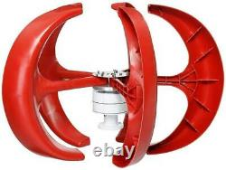 US 800W Max 12V Vertical Axis Lantern Wind Turbine Generator 5Blades Home Power