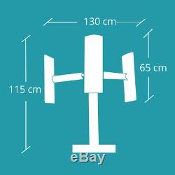 Vertical axis wind turbine generator DOMUS 500 750 1000 W Darrieus Savonius 1KW