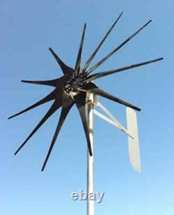 WIND TURBINE GENERATOR LOW WIND 850 WATT 10 Prop 24 VOLT DC 2/WIRE NONCOG-PMA D