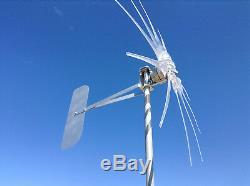 WIND TURBINE WIND GENERATOR 1200W 11 BLADE CLEAR 12 Volt AC 3-PHASE PMG