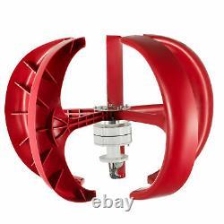 Wind Turbine 400W 12V Wind Turbine Generator Red Lantern Vertical WithController