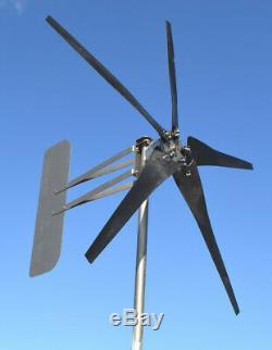 Wind Turbine 5 Blade MORE POWER! 1880W 48 volt AC 3-wire 14-SC PMA 7.4 kW