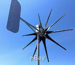 Wind Turbine Generator 1450 W 11 Blade 12 VAC 3-ph MAX-Core PMA 5.26 kWh